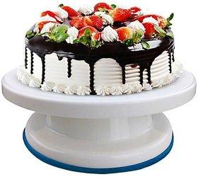 Plastic Cake Tools Decorating 360 Round Easy Rotate Turntable Revolving Cake Decorating Turntable Stand, 28cm