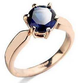 KUNDLI GEMS- Original Stone Blue Sapphire/Neelam 4.25 Carat stone Ashthhdhatu Adjustable Ring for Men (Blue)