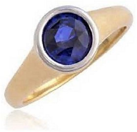KUNDLI GEMS- Original & Lab Certified Stone Blue Sapphire 5.25 ratti Stone Gold Plated Ring For Astrological purpose