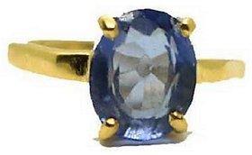 KUNDLI GEMS- Unheated  Untreated Stone Blue Sapphire/Neelam Gold Plated Ring 5.25 Ratti Precious Stone Neelam Ring.