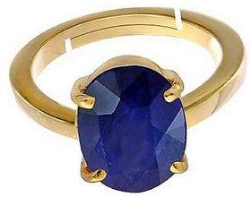 KUNDLI GEMS- Blue Sapphire/Neelam  Gemstone 5.5 Carat stone copper/Ashtdhatu Finger Ring For Unisex