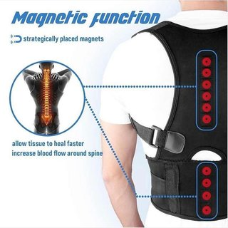 EncyKick Posture Corrector Brace Shoulder Back Support Belt with Magnetic Therapy