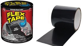 Shopper52 Strong Rubberized Waterproof Flex Instantly Stops Leaks Sealer Tape Waterproof Tape (4 Inch X 5 Feet ) - FLEX