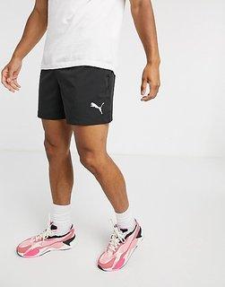 Puma Men's Black Ess Woven Shorts