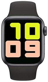 HBNS T500 Smart Watch 44mm Black Aluminium Black Sport Band (Free Size)