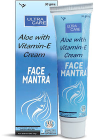 Tantraxx Aloe with Vitamin E cream FACE MANTRA ULTRA CARE (Pack of 3) 30 gm