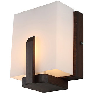LEARC Designer Lighting Contemporary Glass Metal Wood Wall Light WL2361