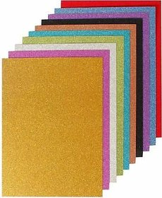 Uc collection EVA Foam A4 Size Glitter Sheets for Arts and Crafts, Scrapbooking, Paper Decorations (Multicolour, 10 Pcs)
