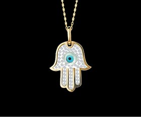 hand evil eye pendant