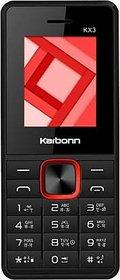 Karbonn Kx3 Black Red 1.8 inch display 800 mAh battery