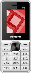 Karbonn Kx3 White Grey 1.8 inch display 800 mAh battery