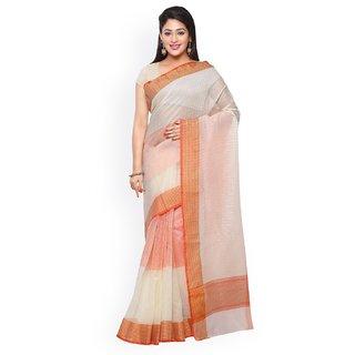 Touch Trends Peach Colour Banarasi Silk Designer Saree