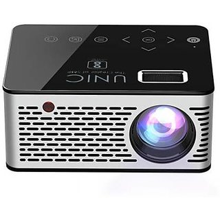 Mini Portable Projector up to 60 Inches Screen, Support AV/HDMI/USB/SD/19201080 pixel 60 Lumens - ( black)