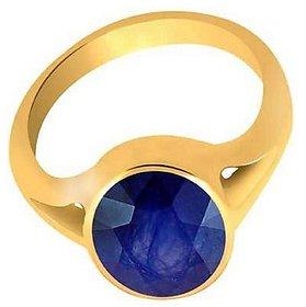 Blue Sapphire/Neelam  Gemstone 5.5 Carat stone copper/Ashtdhatu Finger Ring For Unisex