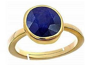 5.75 Ratti Original & Certified Stone Neelam/Blue sapphire Gold Plated finger Ring Effective & Natural Stone Ring