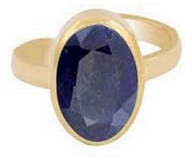 Original & Lab Certified Stone Blue Sapphire 5.25 ratti Stone Gold Plated Ring For Astrological purpose