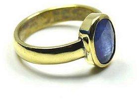 Unheated & Untreated Stone Blue Sapphire/Neelam Gold Plated Ring 5.25 Ratti Precious Stone Neelam Ring.