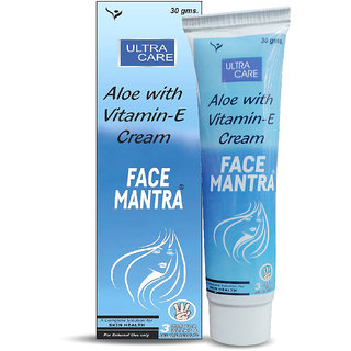 Tantraxx Face Mantra Aloe with Vitamin E Cream 30gm (Pack of 3)