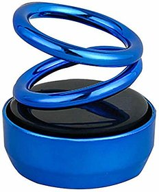 Spidy Moto Solar Power Rotating Car Air Freshener Perfume Blue