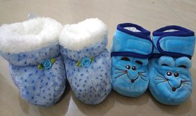 OSM  ENTERPRISES  Unisex-Baby's Bootie Set-2 Months and 6-12 Months Of Age