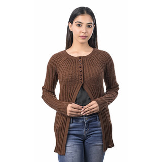 Varenyam woollen round Neck Full Sleeve solid shrug