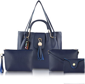 Threadstone Women's Latest PU Leather Handbag Combo ckadi Blue- 4