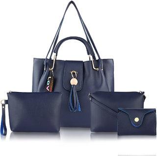 Threadstone Women's Latest PU Leather Handbag Combo ckadi Blue- 4
