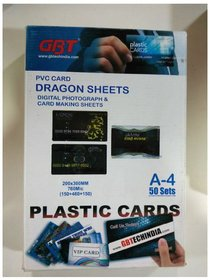 GBT PVC Card Dragon Sheet A4 Digital Photograph  Card Making Sheets ,