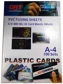 GBT PVC Fusing Sheet A4 I.D Card Sheet Set of 100 ( 100 PVC Printing Sheet  100 Coated Overlay )