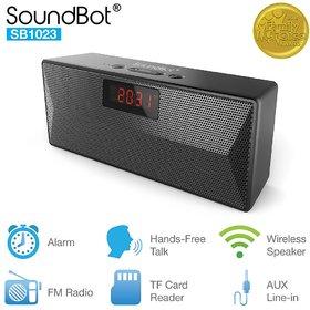 SoundBot SB1023 Bluetooth FM Radio Alarm Clock 8 W Bluetooth Speaker