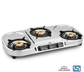 Padmini 3 Burner Stainless Steel  Cooktop CS 307 HF