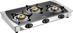 Padmini 3 Burner Glass Top Cooktop CS 3GT Crystal Black Manual