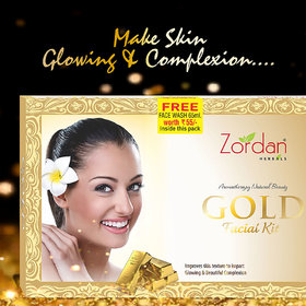 Zordan Herbals Gold Facial Kit 55 gm (Free Face Wash Inside Box 60 ml)