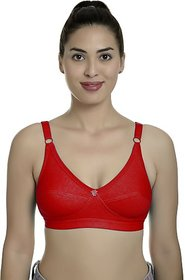 Fashion Comfortz Women Full Coverage Non Padded Bra (Red)