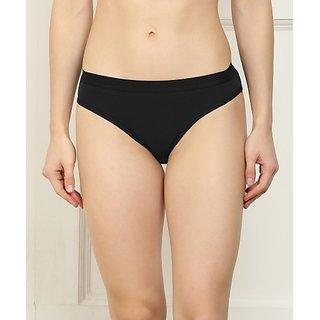 Fashion Comfortz Women Hipster Black Panty (Pack of 1)