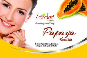 Zordan Herbals Papaya Facial Kit 55 gm (Free Face Wash Inside Box 48 ml)