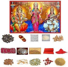 Diwali Poojan Kit (Set of 16 Items) by Dorvik Enterprises