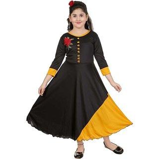 SBN Party Wear Black Designer Gown For Girls