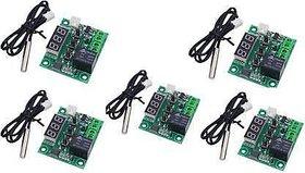 Stookin 5 PCS of W1209 Digital Temperature Controller Module for incubator and NTC Waterproof Temperature Sensor Tempera