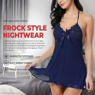 Women's Navy Exotic Naughty Night Dress (Honeymoon Special)