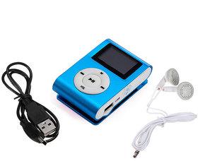 Kss Unique Mini Clip Music Mp3 Player Support 8Gb Tf Card With Earphone- Multicolored