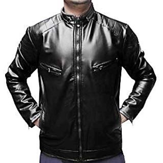 Faux Leather Jacket for Mens and Boys