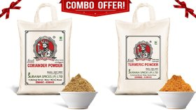 Pure Turmeric  Coriander Powder Combo (Haldi  Dhaniya) 1Kg each