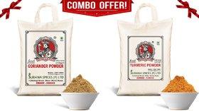 Pure Turmeric  Coriander Powder Combo (Haldi  Dhaniya) 500g each
