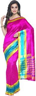 Adezdu Rang Rajwadi  Zari Checkered Silk Saree