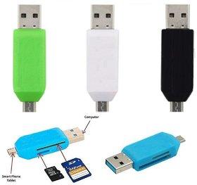 PACK OF 3 PCS OTG USB Multicolour 2.0 Card Reader