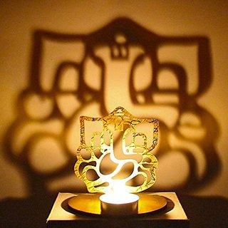 Ganesh Ji Shadow Diya with free T light candle for Home Office Decor Diwali Gifts
