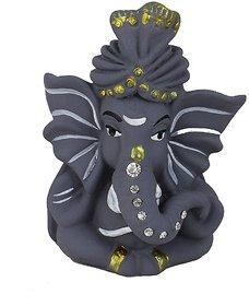 Kartik God Ganesha Car Dashboard Idol/Showpiece (Small,Grey)