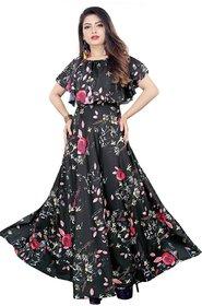 HSFS WOMAN' S DIGITAL PRINTED LONG DRESS