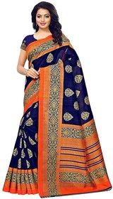 SVB Saree Dark Blue  Orange  Mysore Silk saree